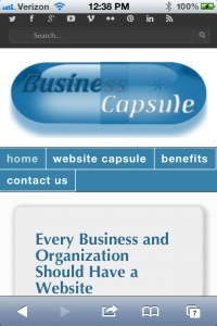 Business Capsule on iPhone